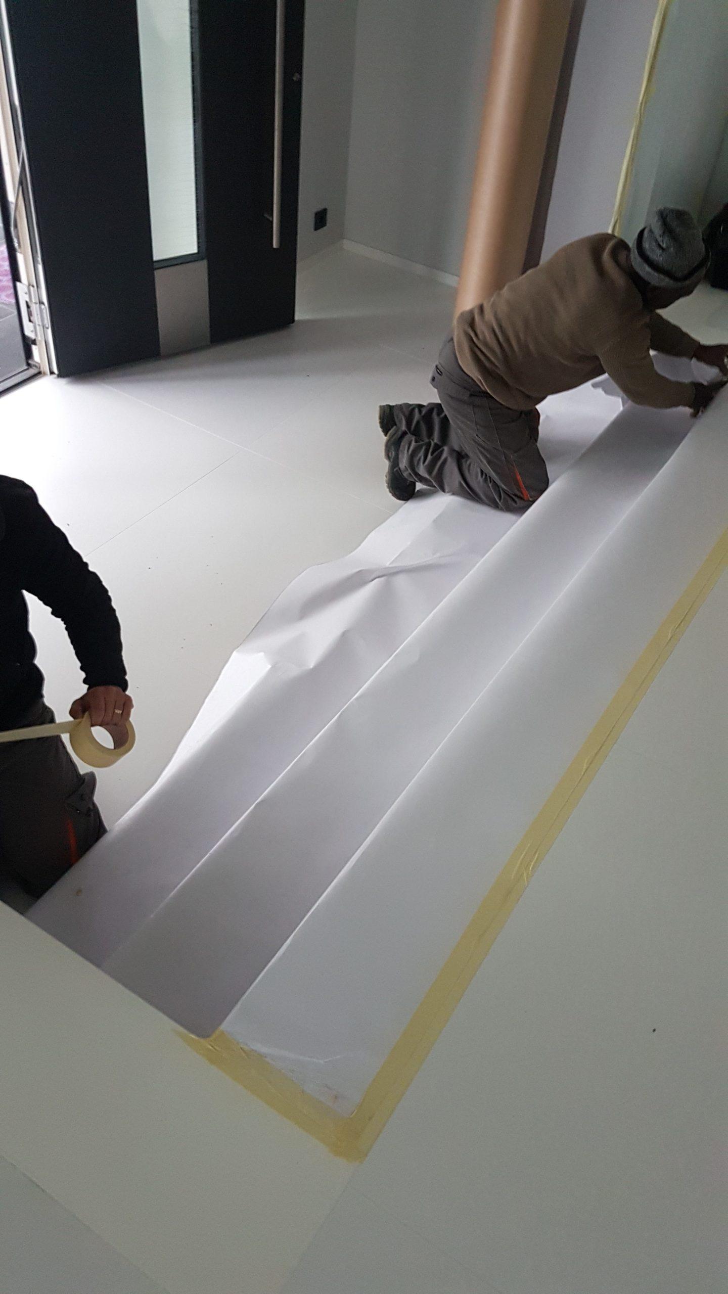 Protection des sols et escaliers d'intérieur pendant les travaux