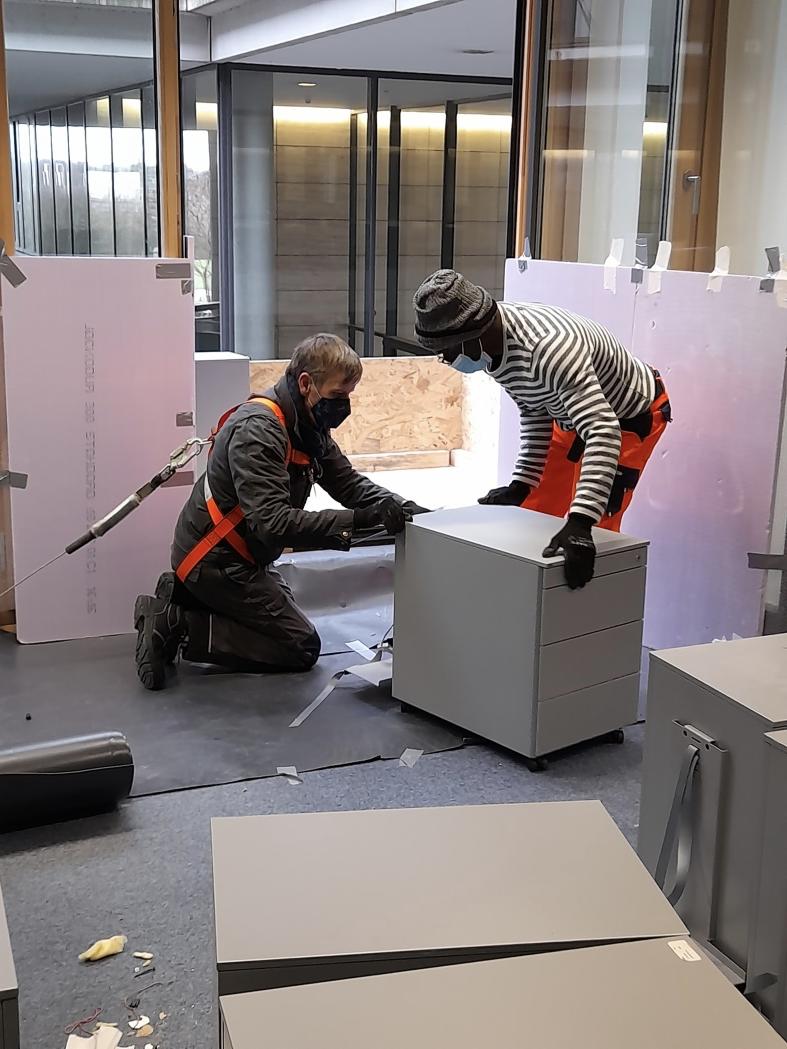 Récupération de mobilier de bureau
