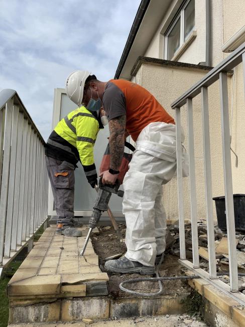 Démolition - curage de bâtiment : Démolition d'une terrasse